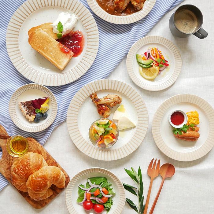 カフェ風のおしゃれな食卓に リム茶ストライプのシリーズ