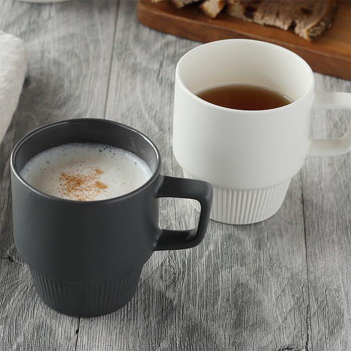 シンプルながら高級感あるデザインMIKASAスタックマグカップ