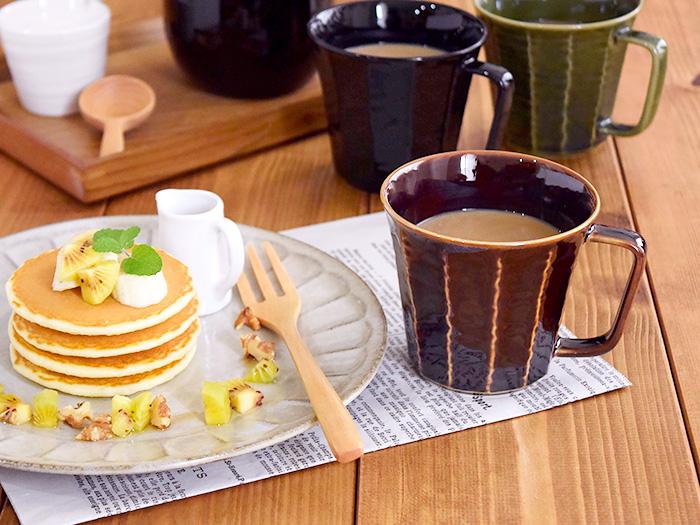 マグカップ 削ぎ(アメ色)