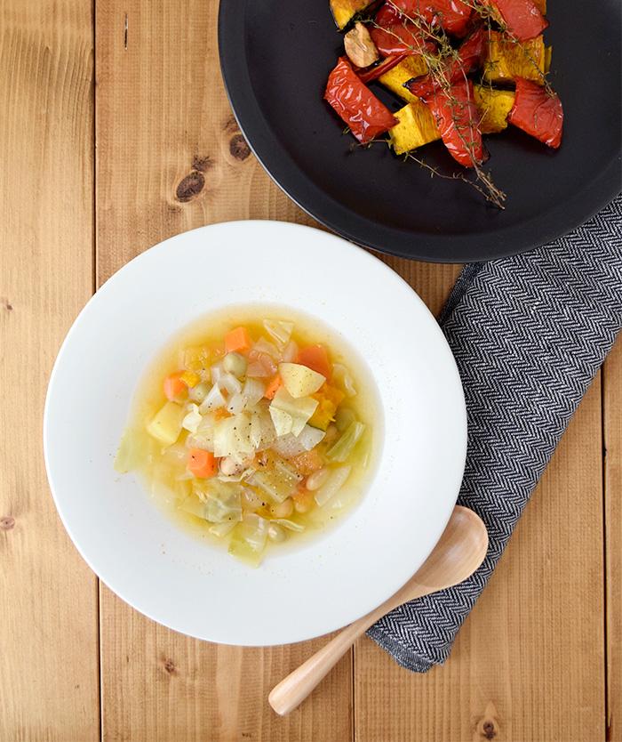 広リム パスタ皿&スープ皿 22cm 白マット