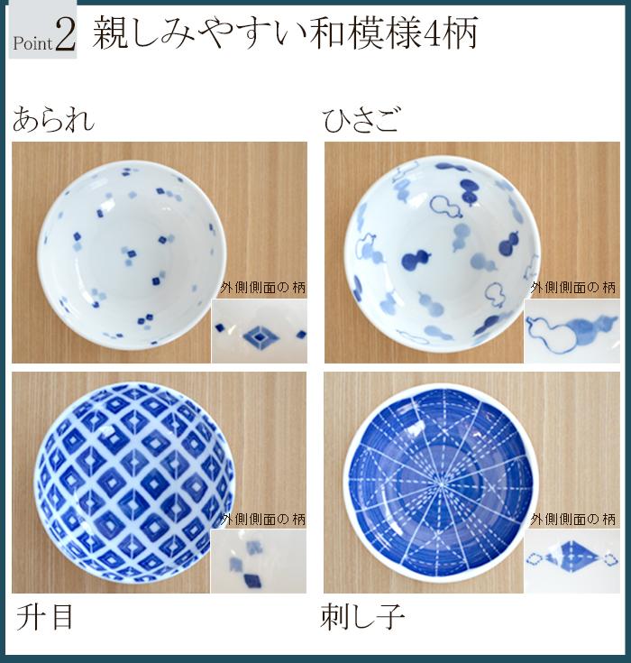 藍文様 小鉢