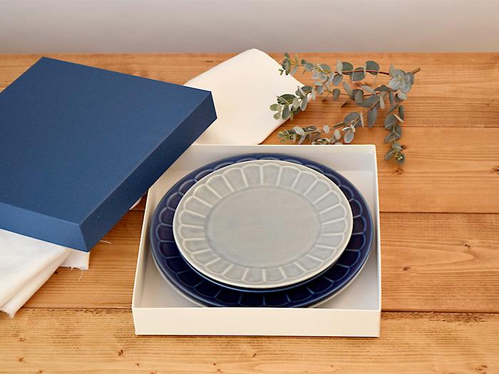 しのぎ お花のリムプレート 大皿小皿 4枚