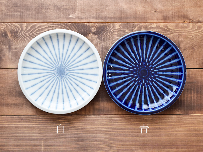 大皿 青十草 25cm 和食器