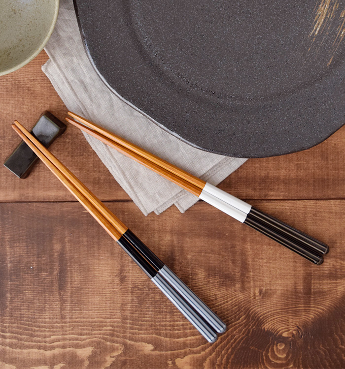 箸 モノクロライン 23cm 食洗機対応