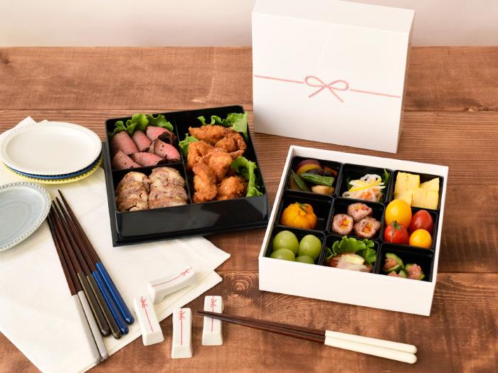 送料無料の和食器 縁起の良いkuruhimo(クルヒモ)二段重箱