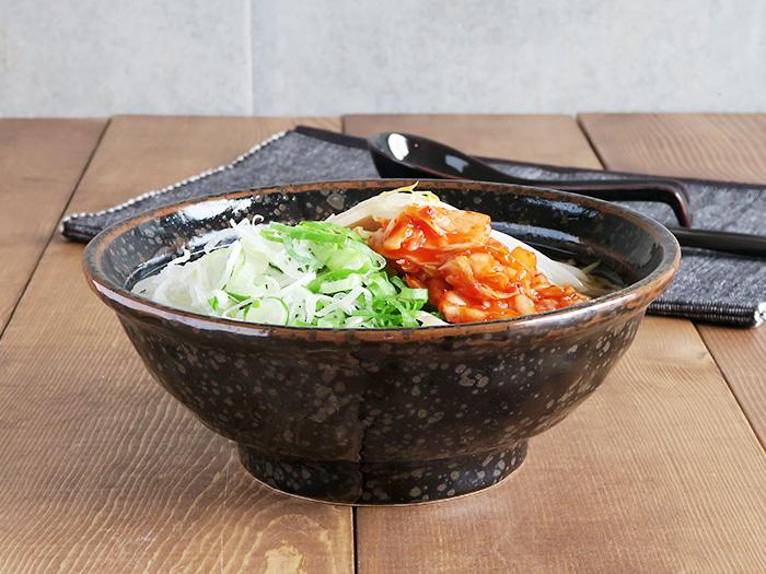 油滴結晶 石目 6.3寸ラーメン丼