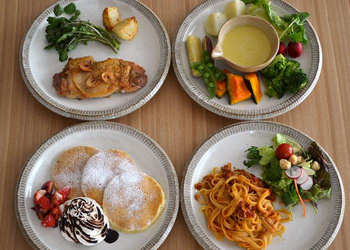 白い食器 パスタ皿