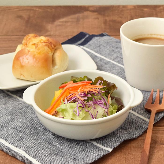 サラダボウルやこども食器に耳付きカフェ風ボウル