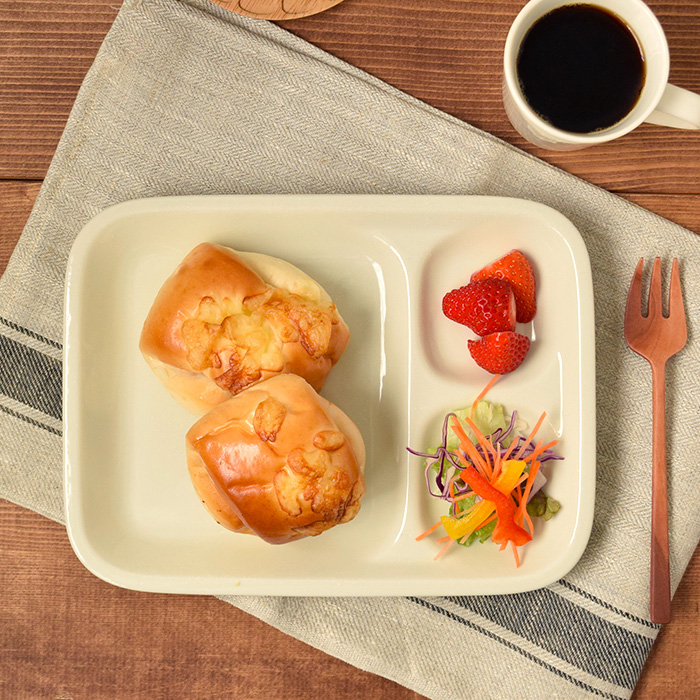 朝食&お子様用におすすめカフェ風仕切りプレート