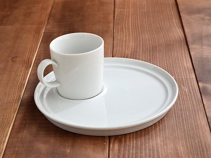 CAFEランチセット プレート22cm+マグ ホワイト