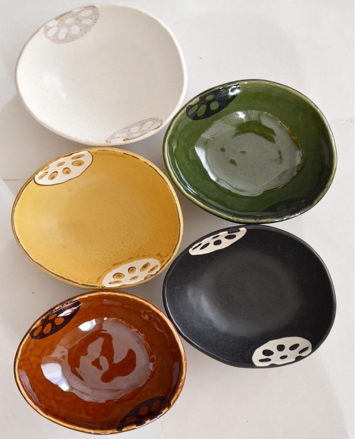 レンコン小皿、小鉢