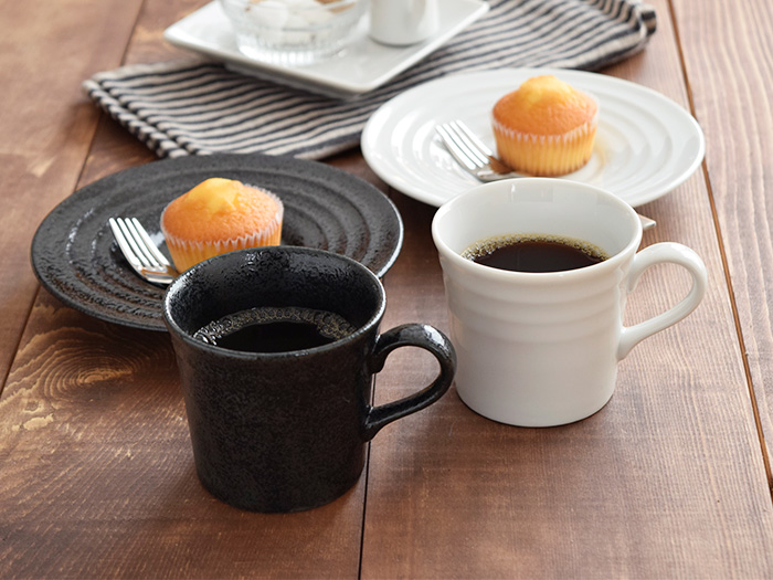 コーヒーカップ ボーダー 7.5cm ホワイト